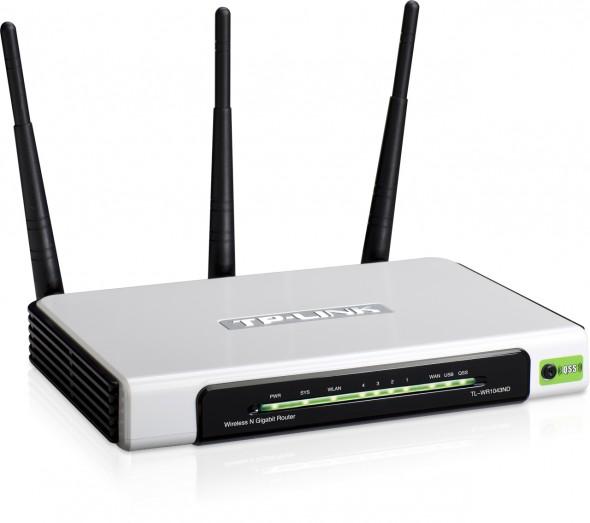Router Gigabit chuẩn N không dây tốc độ 300Mbps TL-WR1043ND
