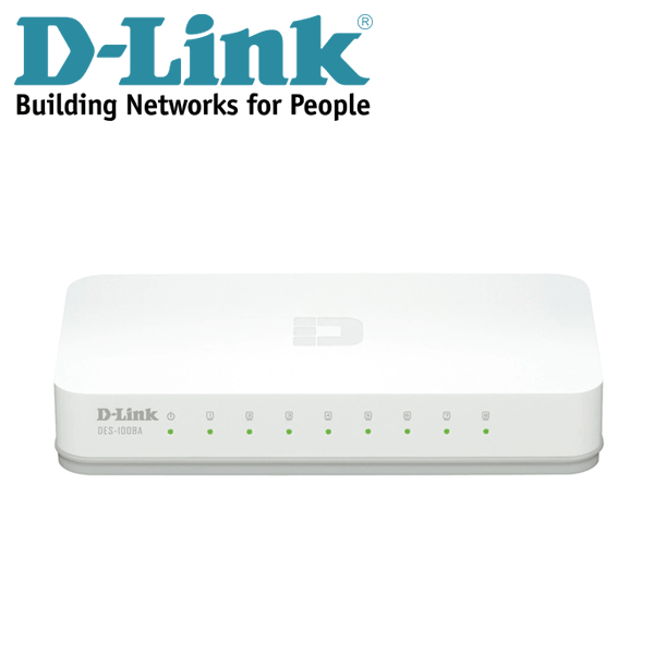 8-port Ethernet Switch D-Link DES-1008A