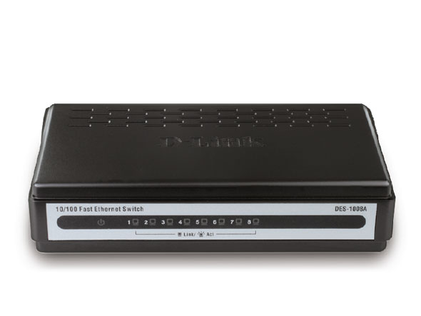 Switch 8 port dlink 100 (des-1008a)